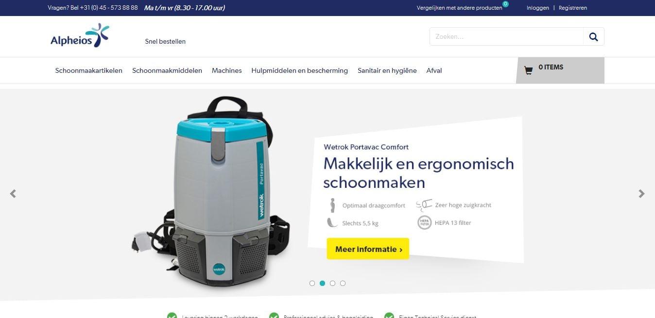 B2b webshops Alpheios