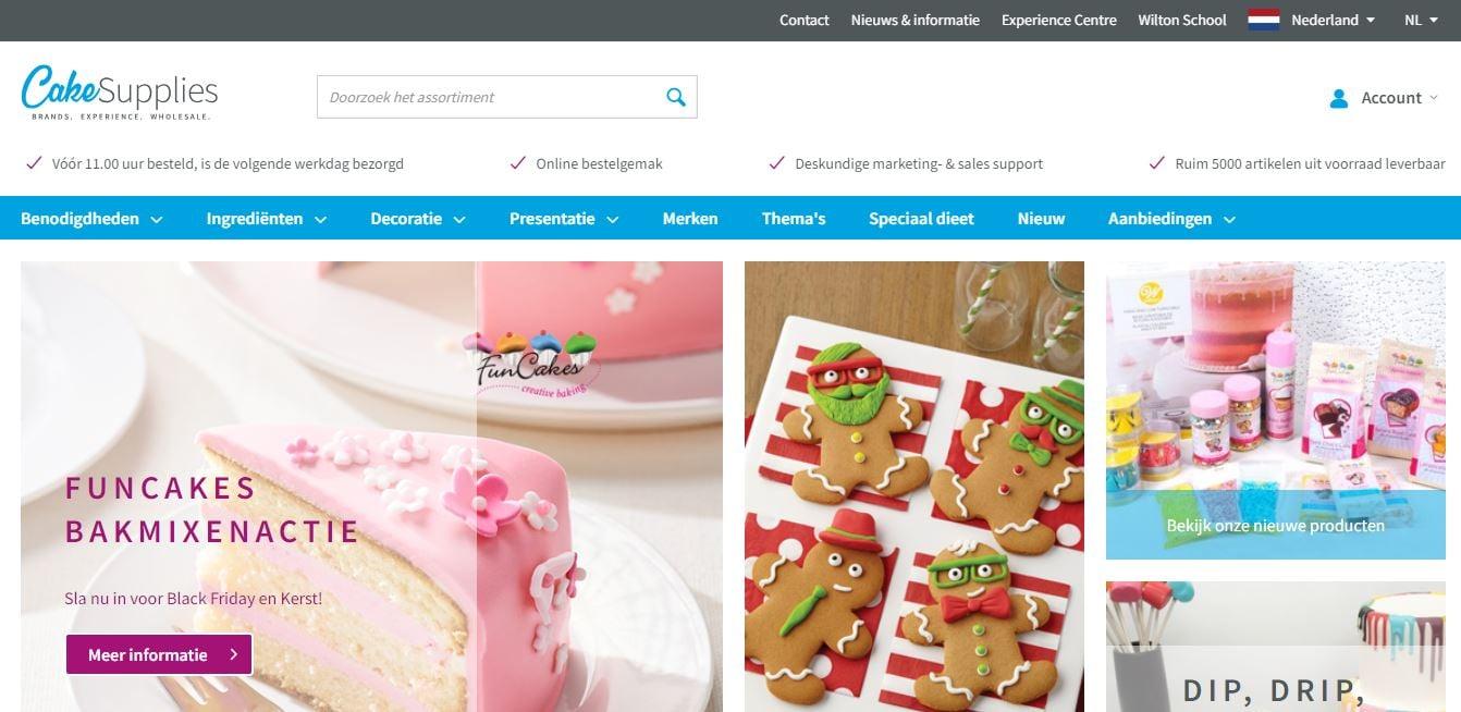 B2b webshops cakesupplies