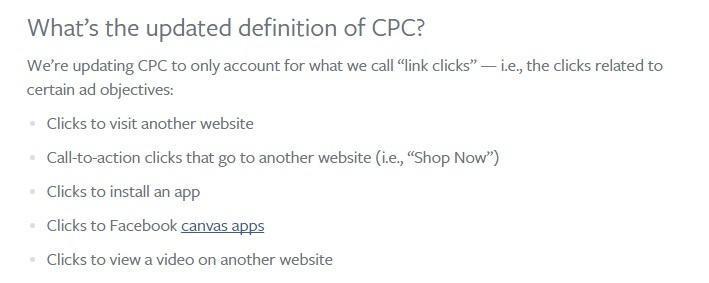Facebook-cpc-model-aanpassing-juli