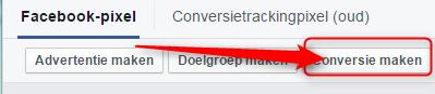 Facebook-pixel conversie maken