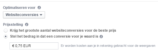 Optimaliseren voor FB ads
