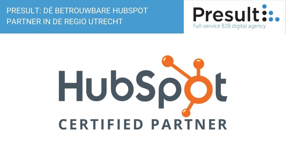 Presult: dé betrouwbare HubSpot-partner regio Utrecht