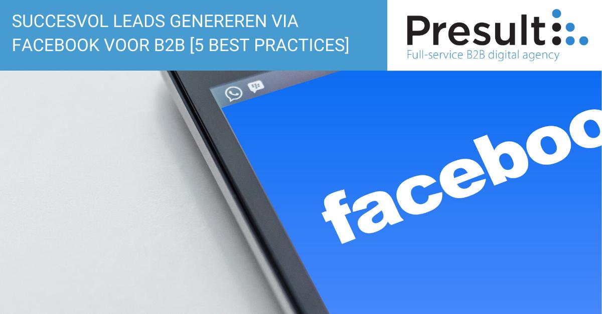 Leads genereren Facebook B2B