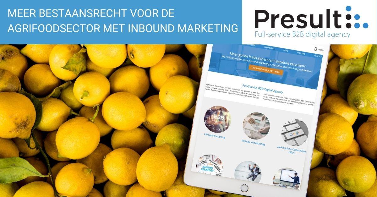 Meer bestaansrecht voor de agrifoodsector met inbound marketing