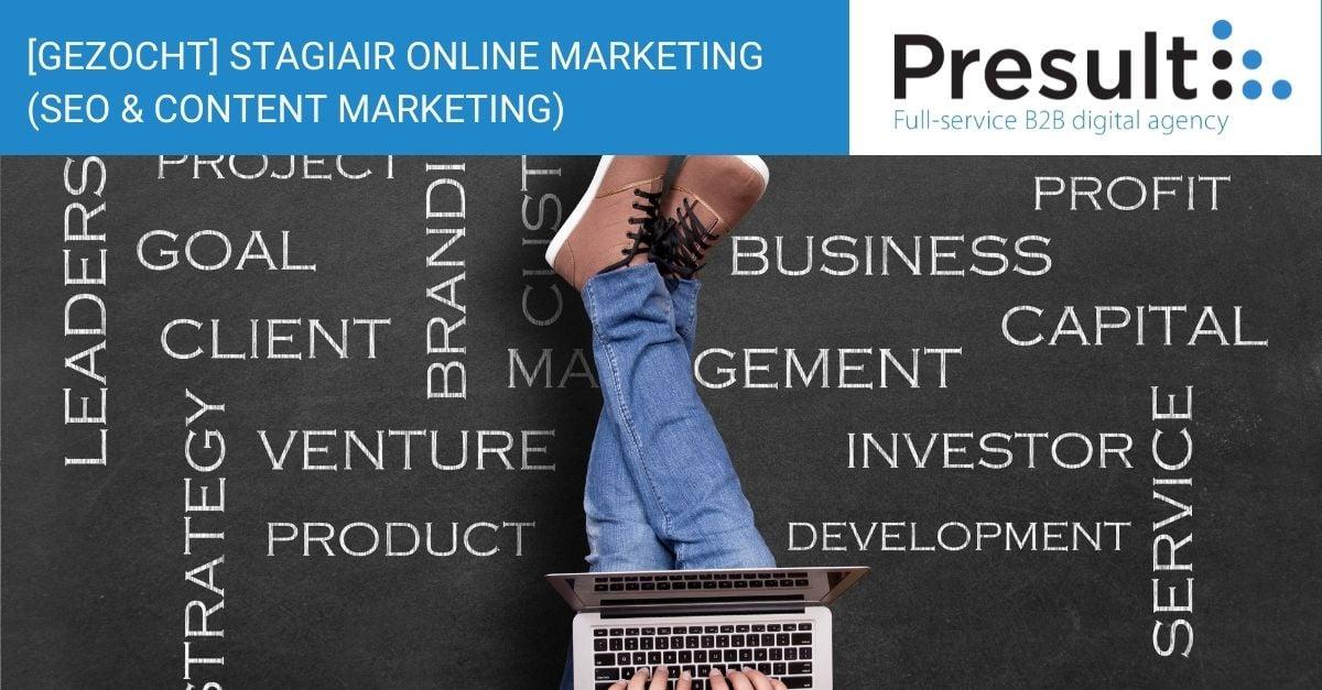 stagiair online marketing